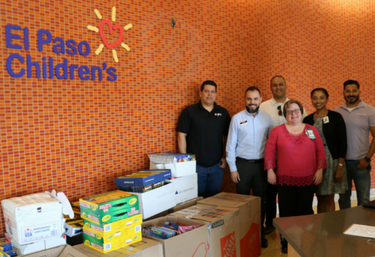 Collected items for El Paso's Children's Hospital Foundation