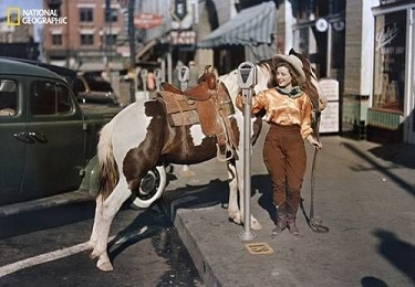 Cowgirl in Downtown El Paso 1939